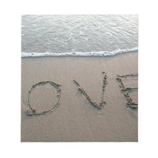 Bloc-note Amour dans le sable
