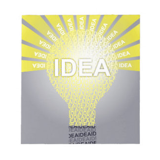 Bloc-note Ampoule typographique d'IDÉE