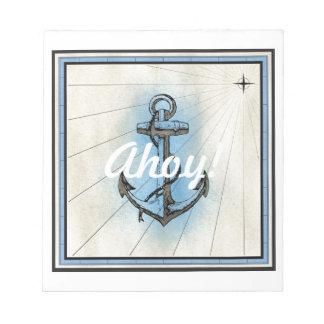 Bloc-note Ancre nautique vintage