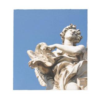Bloc-note Ange en pierre à Rome, Italie