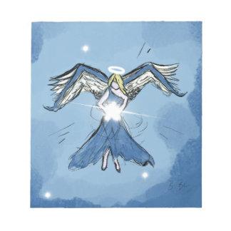 Bloc-note Ange faisant des étoiles