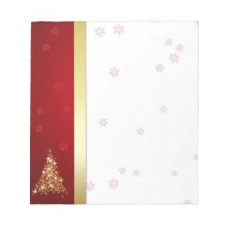 Bloc-note Arbre de Noël rougeoyant - bloc - notes