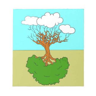 Bloc-note arbre renversé