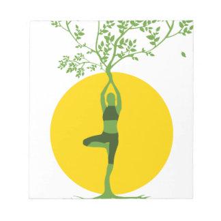 Bloc-note Arbre vert de yoga