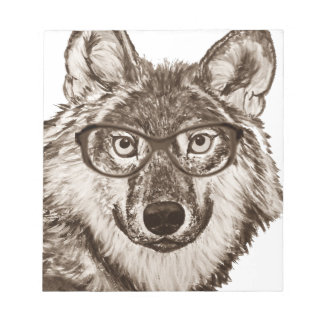 Bloc-note Art de ballot de loup