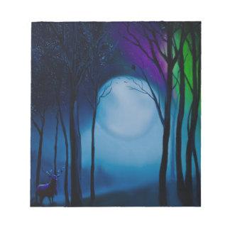 Bloc-note Art de forêt d'imaginaire