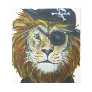 Bloc-note Art de pirate de lion