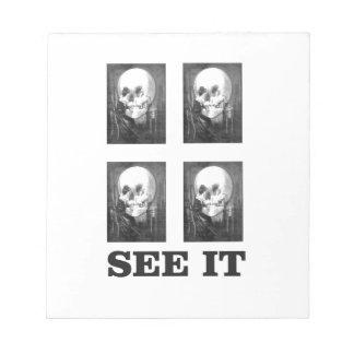 Bloc-note art de quatre crânes