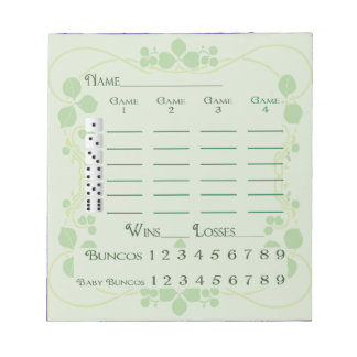Bloc-note Art floral vert Nouveau de mars de protection de