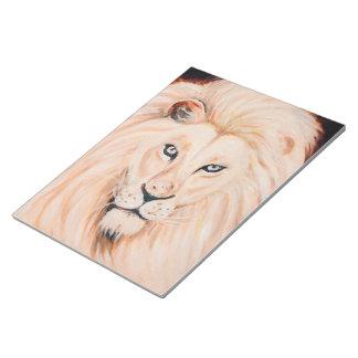 Bloc-note Art fort d'huile de portrait de lion