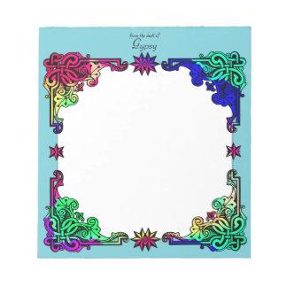 Bloc-note Art populaire coloré de Bohème floral gitan de