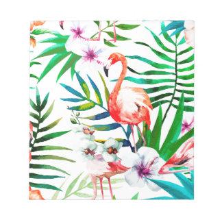 Bloc-note Art tropical de flamant