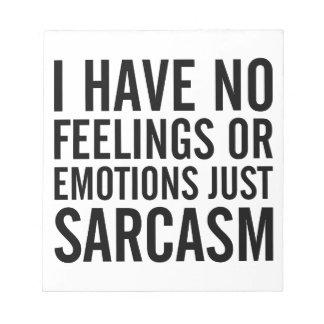 Bloc-note Aucuns sentiments ou émotions