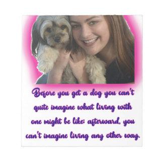 Bloc-note Avant que vous obteniez un chien