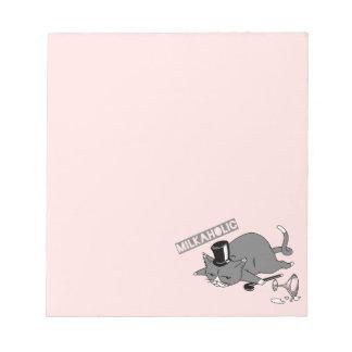 """Bloc-note Baron Pun Illustration de chat de """"Milkaholic"""""""