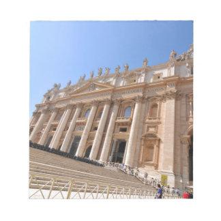 Bloc-note Basilique de San Pietro à Vatican, Rome, Italie