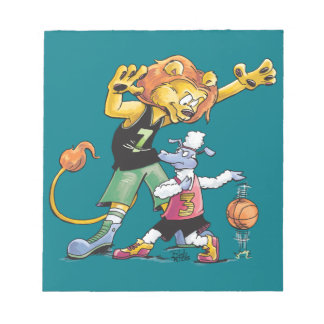 Bloc-note Basket-ball de lion et de moutons