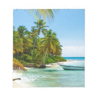 Bloc-note Bateau dans les Caraïbe