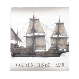 Bloc-note Bateau d'or de 1578 Hinde