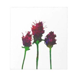 Bloc-note Beau bloc - notes pourpre de conception de fleur