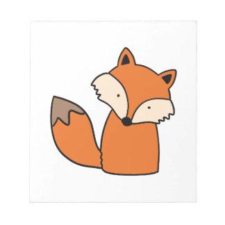 Bloc-note Beau renard rouge