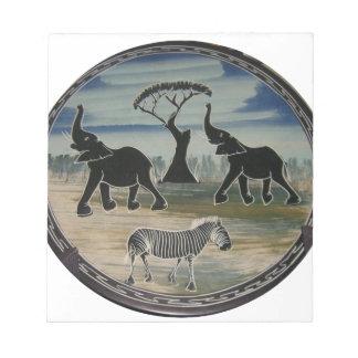 Bloc-note Belle faune élégante de l'Afrique Kenya