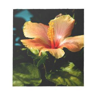 Bloc-note Belle fleur jaune de ketmie