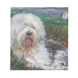 Bloc-note Belle vieille peinture anglaise d'art de chien de