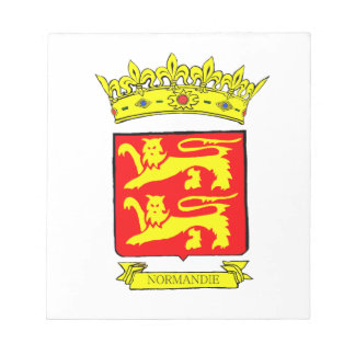 BLOC-NOTE BLASON NORMANDIE
