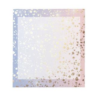 Bloc-note Bleu de sérénité de quartz rose d'étincelle