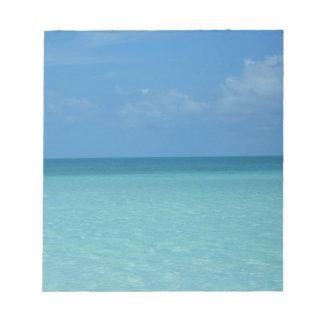 Bloc-note Bleu de turquoise tropical d'horizon des Caraïbes