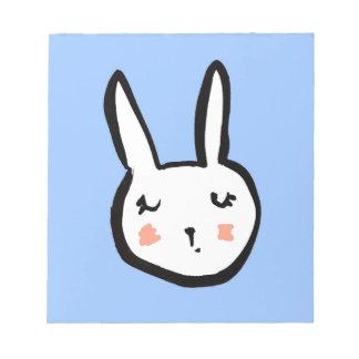 Bloc-note Bleu de visage de lapin