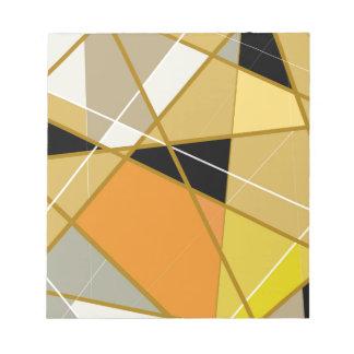 Bloc-note Bloc mémo Geometrical abstract