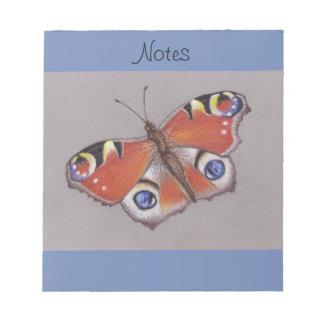 Bloc-note Bloc - notes avec la conception de papillon de