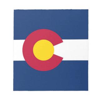 Bloc-note Bloc - notes avec le drapeau de l'état du Colorado