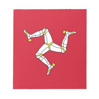 Bloc-note Bloc - notes avec le drapeau d'île de Man
