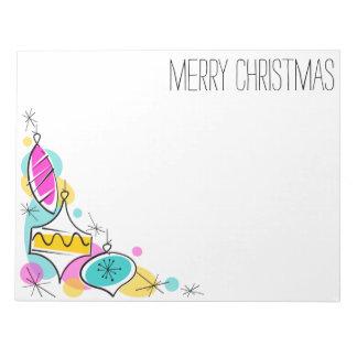 Bloc-note Bloc - notes faisant le coin de Noël de rétros