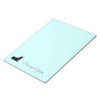 Bloc-note Bloc - notes - joint avec le nom sur le bleu