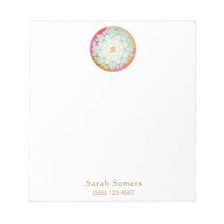 Bloc-note Bloc - notes personnalisé coloré de fleur de l'OM