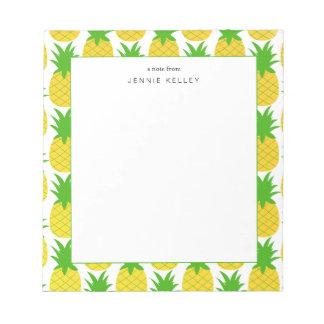 Bloc-note Bloc - notes personnalisé, motif d'ananas