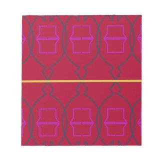 Bloc-note Blocs géométriques d'ethno de conception