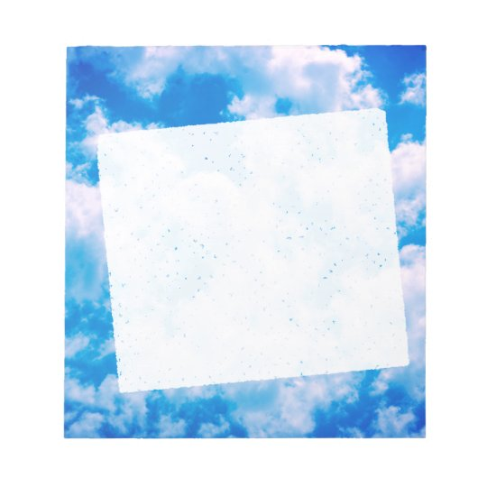 Bloc-note Blue sky with white clouds