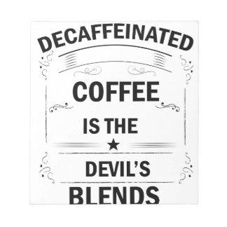 Bloc-note boisson drôle de café