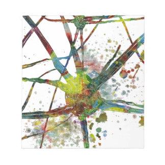 Bloc-note Cadeau abstrait médical de synapses