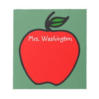 Bloc-note Cadeau de bloc - notes d'Apple du professeur fait