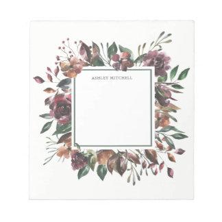 Bloc-note Cadre   floral botanique épicé