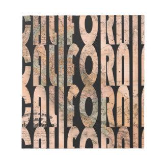 Bloc-note california1861