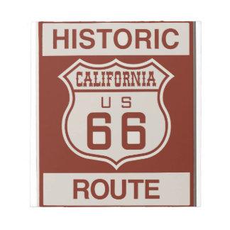 BLOC-NOTE CALIFORNIA66