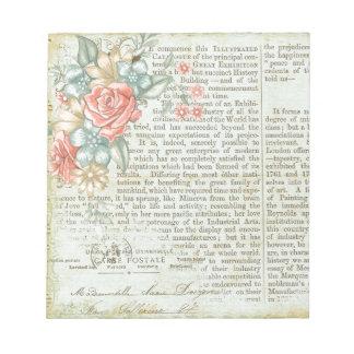 Bloc-note Calligraphie de papier florale vintage