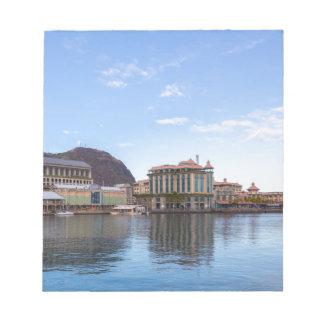 Bloc-note capitale caudan de bord de mer de Port-Louis le de